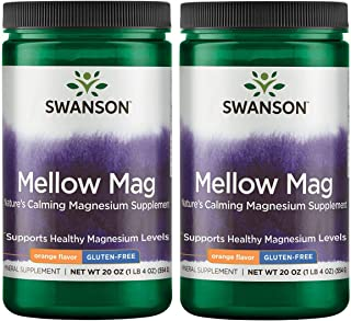 Swanson Mellow Magnesium Drink Combat Stress Support Mood Bone Muscle Nervous System Health Supplement Vegan Non-GMO Sugar...