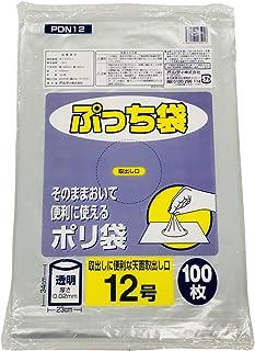 オルディ ポリ袋 規格袋 食品衛生法適合品 透明 12号 横23×縦34cm 厚み0.02mm ビニール袋 PDN12 100枚入