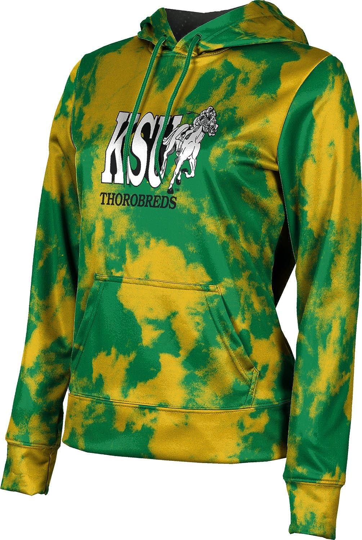 Kentucky State University Girls' Pullover Hoodie, School Spirit Sweatshirt (Grunge)