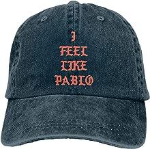 Amerltees I Feel Like Pablo Unisex Vintage Washed Distressed Baseball-Cap Twill Adjustable Dad-Hat Black