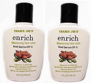 Trader Joe's Enrich Moisturizing Face Lotion Pack of 2