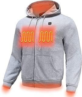 Heated Hoodie for Men Electric Sweater Heavyweight Fleece Sweatshirt with Battery