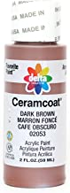 Delta Creative Ceramcoat Acrylic Paint In Assorted Colors (2 Oz), 2053, Dark Brown, (Pack of 6)