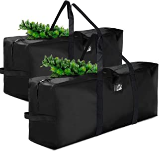 Souarts Waterproof Christmas Tree Bag Extra Large Heavy Duty Storage Bag Containers with 2 Pack Xmas Tree Box with Reinfor...