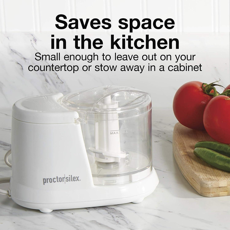 Proctor Silex Durable Mini Food Processor & Vegetable Chopper