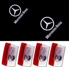 For Benz Door Light,4PCS LED Welcome Light Benz Logo Door Light Projector Car Ghost Shadow Light Lamp Wireless for Benz A ...