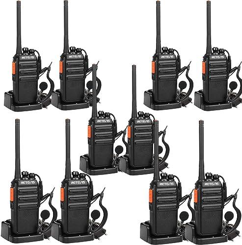 Retevis RT24 Talkie Walkie, PMR446 sans Licence 16 Canaux CTCSS/DCS VOX, Talkie Walkie Rechargeable avec Oreillettes,...