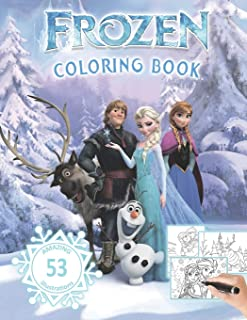 FROZEN Coloring Book: 53 Amazing Illustrations