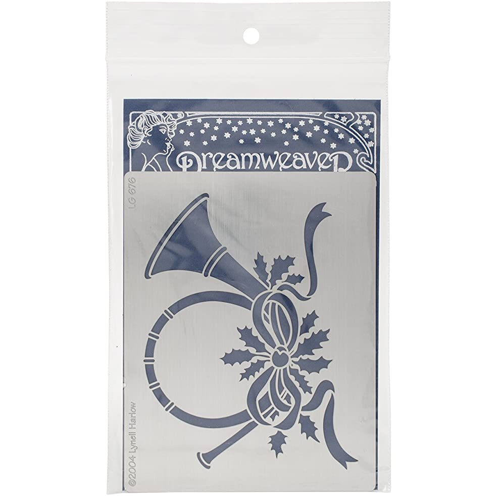 Stampendous Dreamweaver Metal Stencil, French Horn