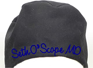 S1FM! Personalized Scrub Cap, Black, Handmade, Dbl Cotton