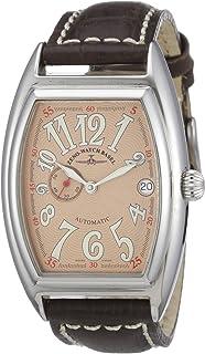 Zeno Watch Basel - 8081-9-h6 - Montre Mixte - Automatique Analogique - Aiguilles Lumineuses - Bracelet Cuir Marron