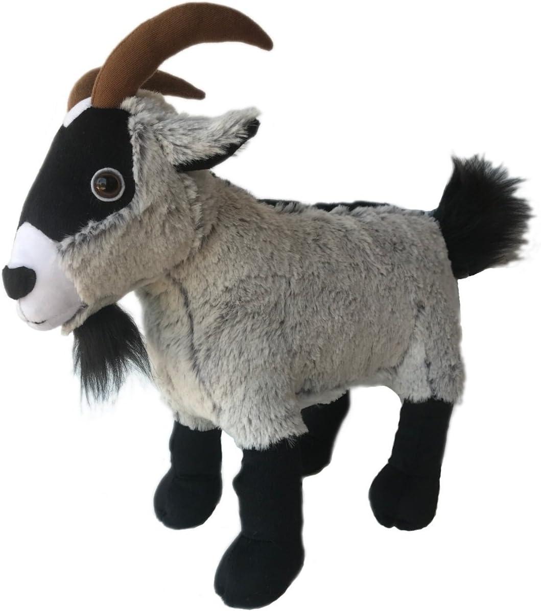 Realistic Gray Goat Soft Plush Kids And Children Simulation Stuffed Cuddly Toy