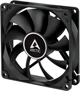 ARCTIC F9-92 mm Standard Case Fan, Quite Motor, Computer, Push- or Pull Configuration, Fan Speed: 1800 RPM - Black