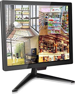 17 inch Security Monitor, Cocar Security Monitor Screen, LCD CCTV Display for Home Security Systems Surveillance Camera ST...
