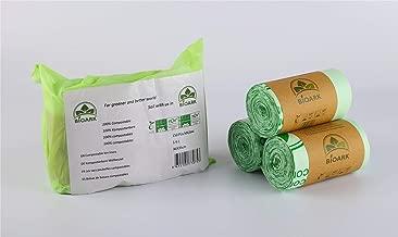 BIOARK Bolsa de Basura Biodegradable 100, 5-6 litros, 150