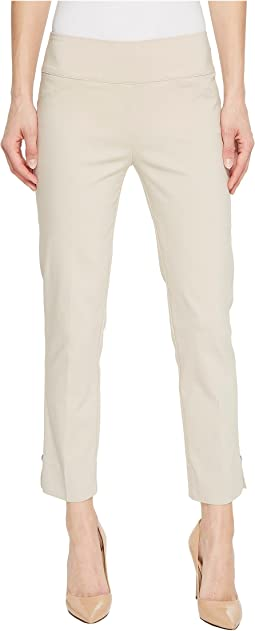 Elliott Lauren - Pull-On Crop Pants with Side Slit & Rivet Detail