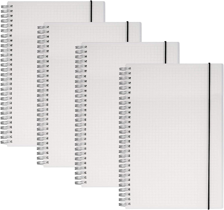 Yansanido Outstanding 4PCS Dotted Notebook Spiral Journals Noteboo Max 55% OFF Notebooks