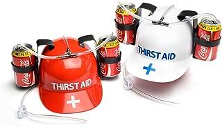 Thirst Aid Helmet PT7290 - Casco con reposalatas y pajitas, varios colores - Casco Porta Latas Thirst Aid , color/modelo surtido