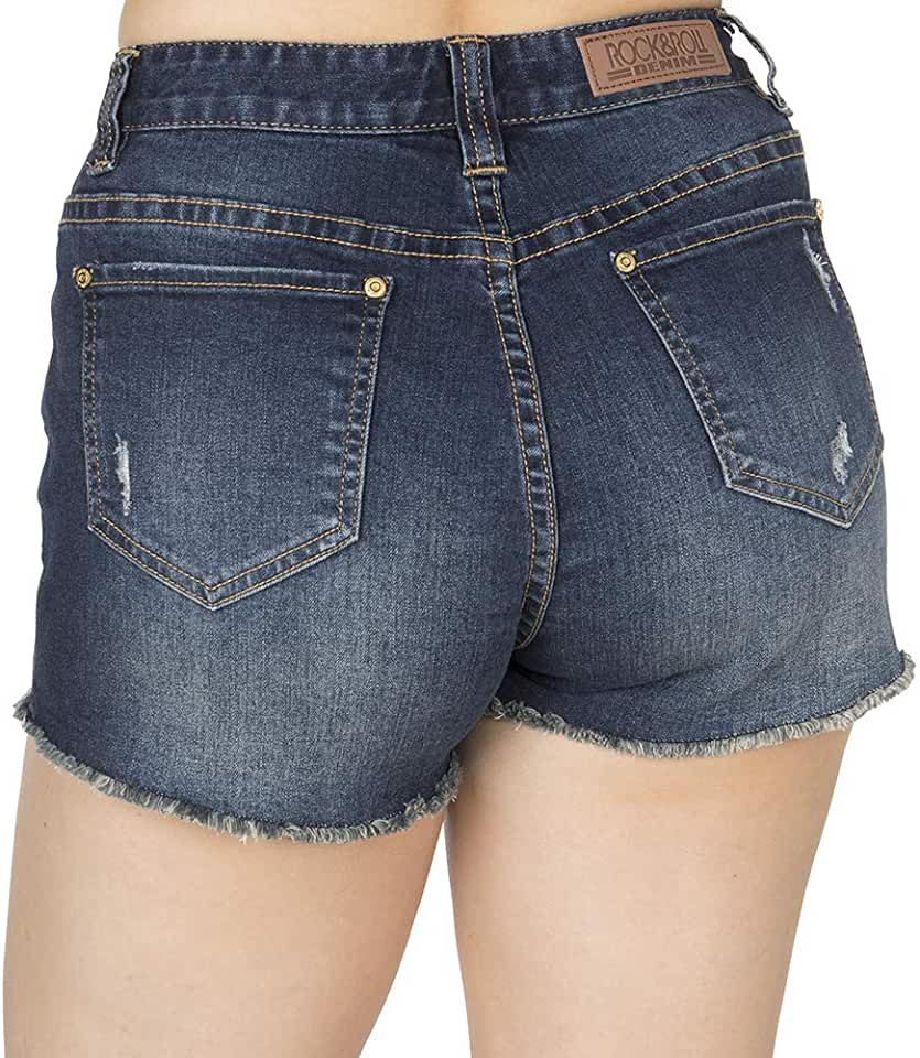 Rock N Roll Cowgirl Womens Denim High Rise Shorts