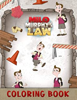 Milo Murphy's Law Coloring Book: Great Coloring Book for Kids, Funny, Relaxing