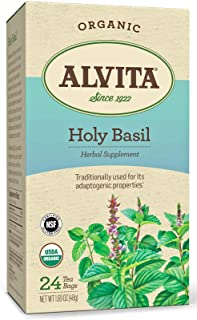 Alvita Organic Holy Basil Herbal Tea - Made with Premium Quality Organic Holy Basil Seeds, And Pleasant Delicate Flavor, 2...