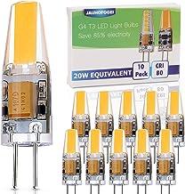 JAUHOFOGEI 10 stks G4 Capsule 2 W LED COB lampen, 12 V AC DC, 20 W glas halogeen gloeilamp equivalent, warm wit 2800 K, on...