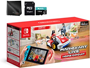 Mario Kart Live: Home Circuit Mario Set, Mytrix 128GB MicroSD with Adapter and Microfiber Lens Cloth (Switch Console Not I...