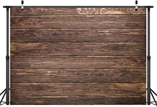 LYWYGG 7x5ft Thin Vinyl Brown Wood Backdrop Photographers Retro Wood Wall Background..