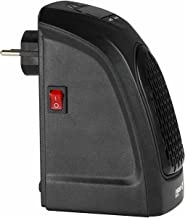 Desconocido Mini Calefactor de Enchufe a Pared 400W Negro Raydan Home
