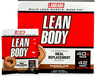 Labrada Nutrition Lean Body, Chocolate, 79-Gram Packets (Pack of 42)