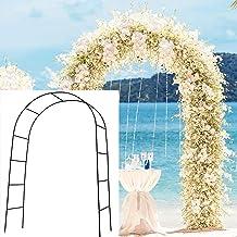 SzJias Adorox Metal Weddings Arch for Garden Climbing Plants Bridal Party Decoration(Black)