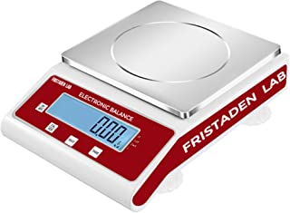 American Fristaden Lab Analytical Precision Scale 3000g x 0.01g   01 Gram Scale Weighs Grams, Kilograms, Ounces, Pounds, Carats   High Accuracy Scale for Lab, Jewelry, Business   1YR Warranty