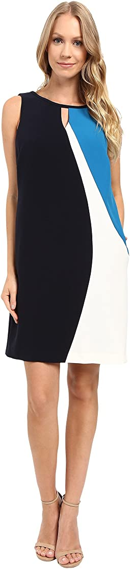 Asymmetrical Seamed Shift Dress