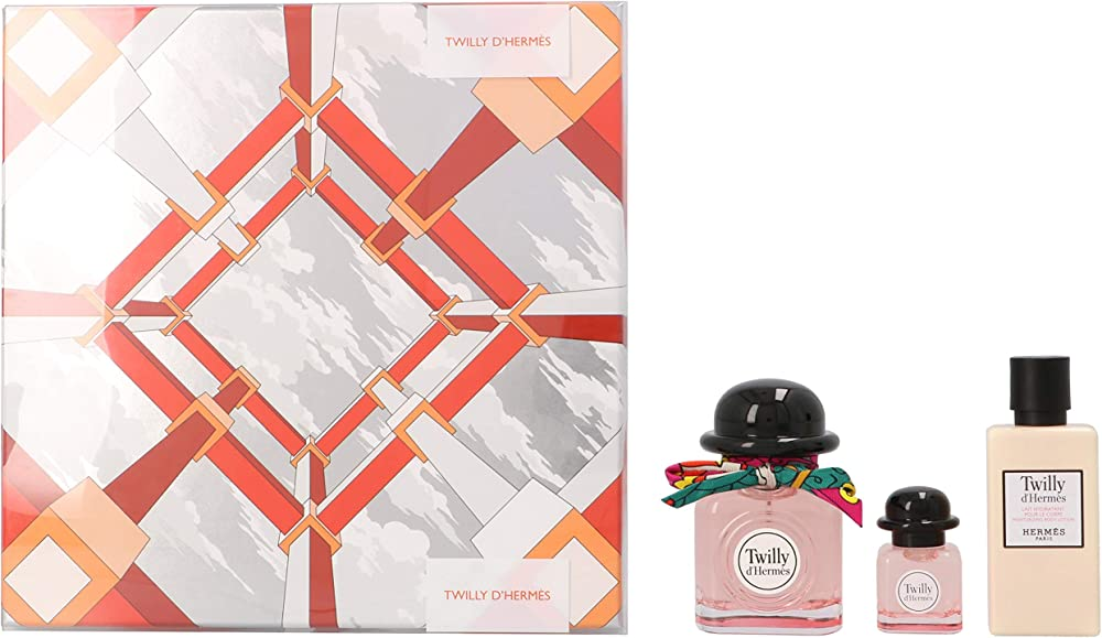 Hermes  twilly set , eau de parfum 50 ml + eau de parfum 7,5 ml + body lotion 40 ml,per donna 1852