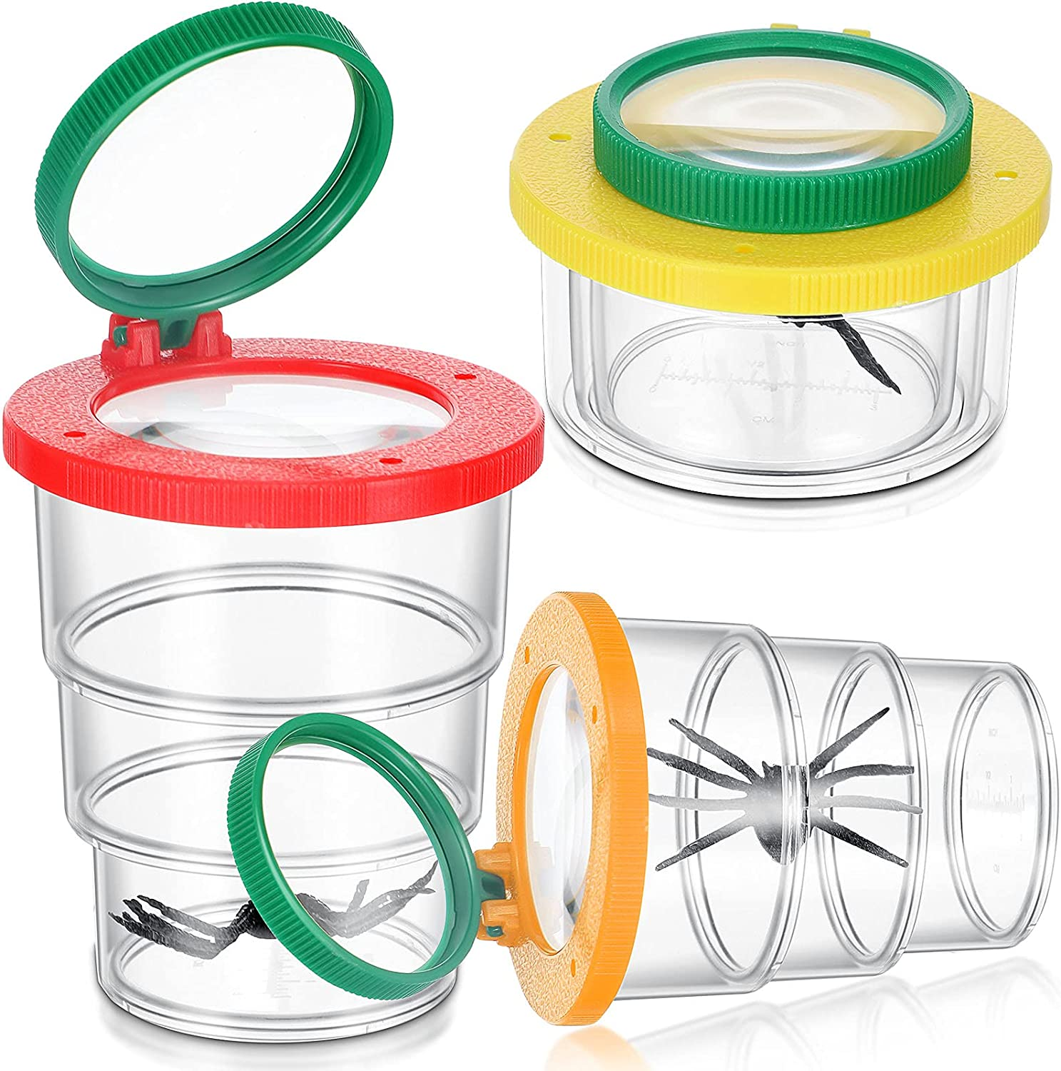 3 Pieces Insert Bug Viewer Magnifier Kit Stretchable Critter Insert...