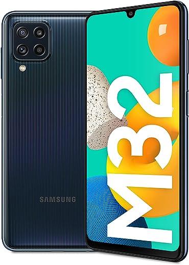 Samsung Galaxy M32 Android Smartphone ohne Vertrag, 6,4-Zoll -Infinity-U-Display, starker 5.000 mAh Akku, 128 GB/6 GB RAM, Handy in Schwarz,…