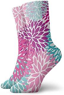 tyui7, Patrón de flores de verano multicolor calcetines de compresión antideslizantes calcetines deportivos de 30 cm acogedores para hombres, mujeres, niños