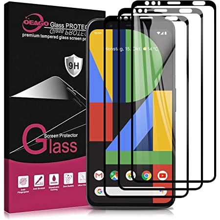 [3-Pack] OEAGO Google pixel 4 XL Screen Protector,Tempered Glass Screen Protector,Anti-Scratch, Anti-Fingerprint,Bubble Free Case Friendly for Google pixel 4XL,Lifetime Replacement Warranty