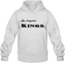 Los Angeles Kings Word Fashion Casual Ash Long Sleeve Hoodie For Adult Size S