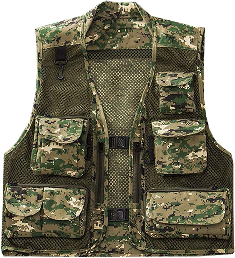 Max 82% OFF Kedera Men's Fishing Photography Utility New product! New type Camo Remov Mesh Hunting