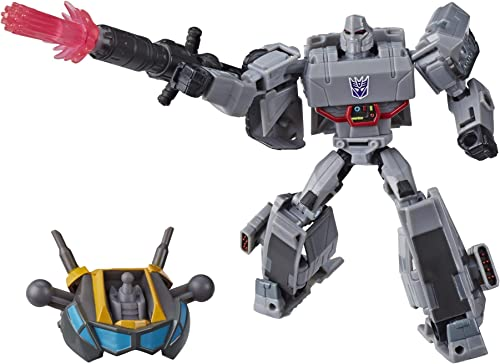 wholesale Transformers discount Toys Cyberverse Deluxe Class Megatron Action Figure, Fusion Mega Shot Attack lowest Move and Build-A-Figure Piece, for Kids Ages 6 and Up, 5-inch online sale