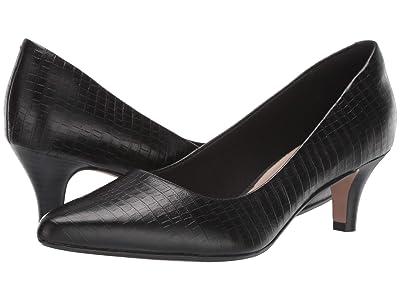 Clarks Linvale Jerica (Black Croco Leather) Women