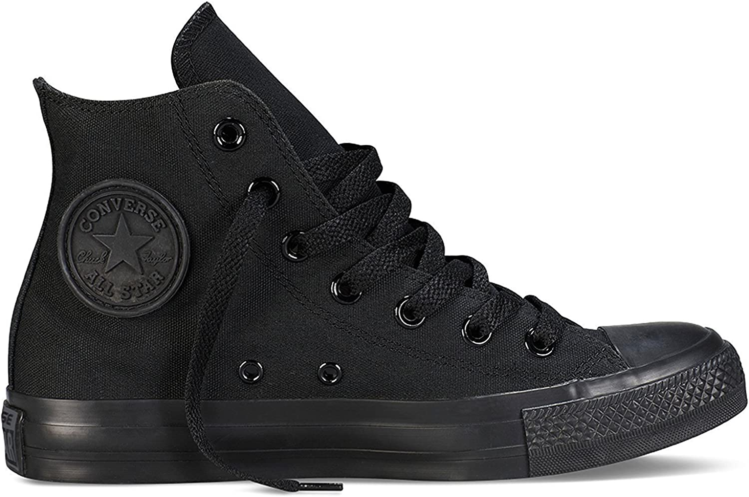 Converse Unisex Chuck Taylor All Star High Top Sneakers (8 D(M) US, Black Monochrome)