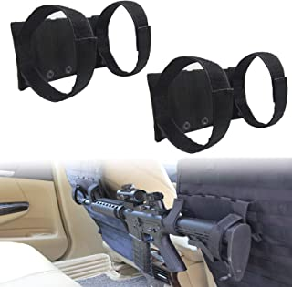 SHEKUSU Tacticle Molle Truck Gun Rack,Storage for Rifle Holder for Molle Seat Back Hunting Accessories, Multi-Purpose Hori...