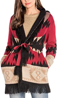 Miss Me Tribal Hooded Cardigan