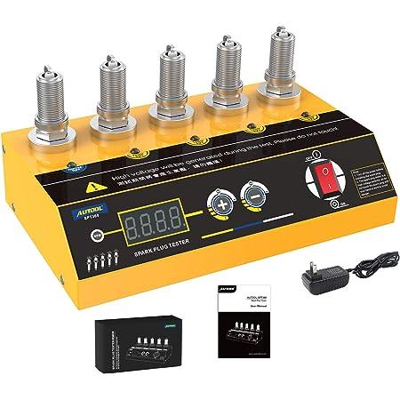 Car Spark Plug Tester with Adjustable 5 Hole Detector, Ignition Plug Analyzer for Vehicle, Automotive Spark Plug Ignition Plug Diagnostic Tool for Lawnmower Internal External Engine AUTOOL SPT360 110V