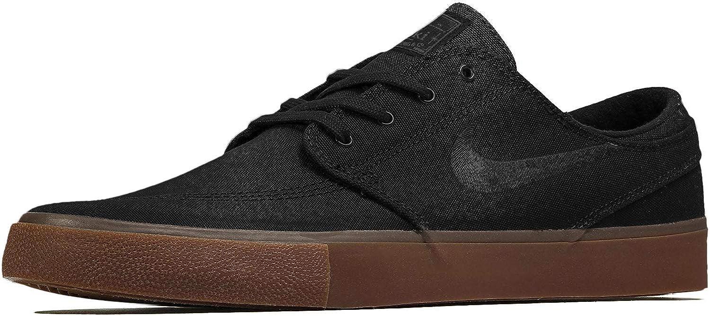 Escuela de posgrado Apariencia Poder  Amazon.com   Nike Men's SB Zoom Stefan Janoski Skate Shoes Black/Black-Gum  Light Brown   Skateboarding