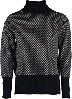 Classic Norwegian patterned roll neck Submariners Sweater