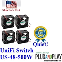 4X Extra-Cooling Quiet Version Fans for UniFi Switch US-48-500W Low Noise 13~18dBA
