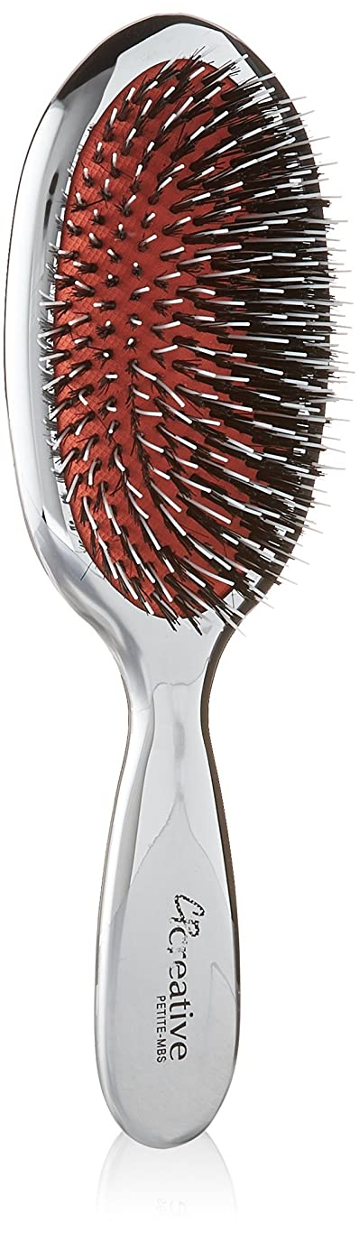Creative Hair Brushes Petite Mixed Bristles, Silver